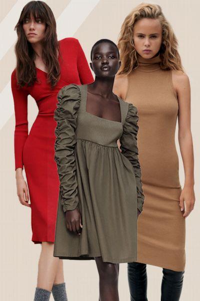 Diese 10 Zara-Kleider passen am besten zu diesem klassischen Mantel-Trend, der JEDEN Winter angesagt ist