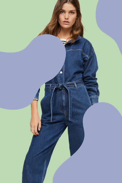 Jumpsuit von Mango: Dieser Denim-Overall ist perfekt für den Herbst - und lässt sich zu all euren Lieblingsschuhen kombinieren