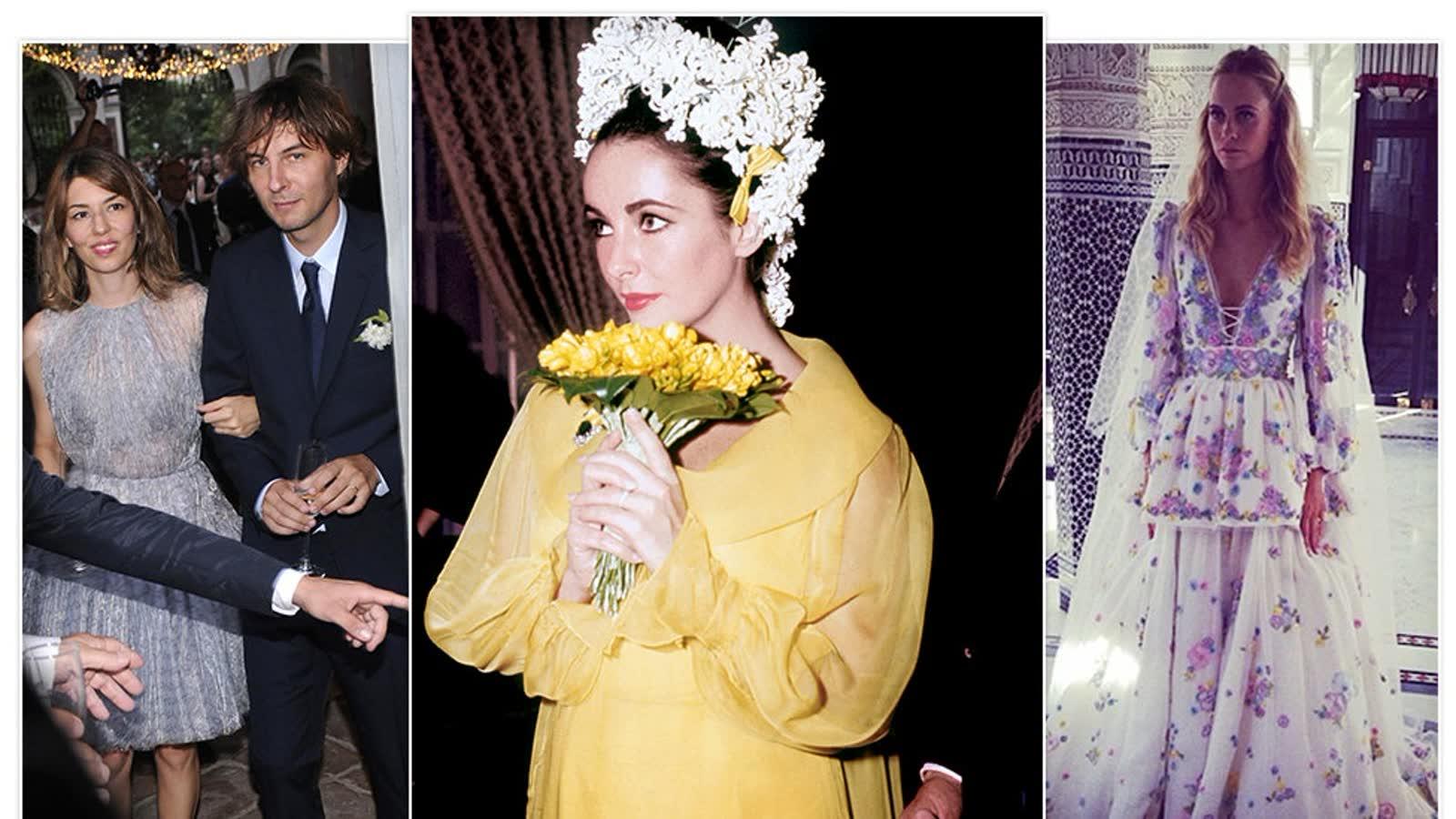 Farbige Brautkleider: 10 Stars, die in bunt geheiratet haben - von Emily Ratajkowski bis Elizabeth Taylor
