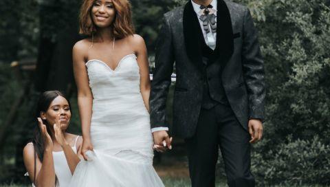 Designer Donaldson Sackey und Poetin Faith Farai zeigen Vogue ihre Hochzeit