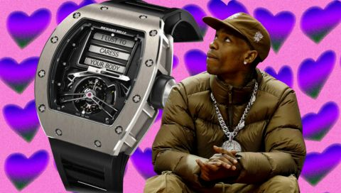 """Travis Scott ist jetzt auch stolzer Besitzer dieser """"Sex-Uhr"""""""