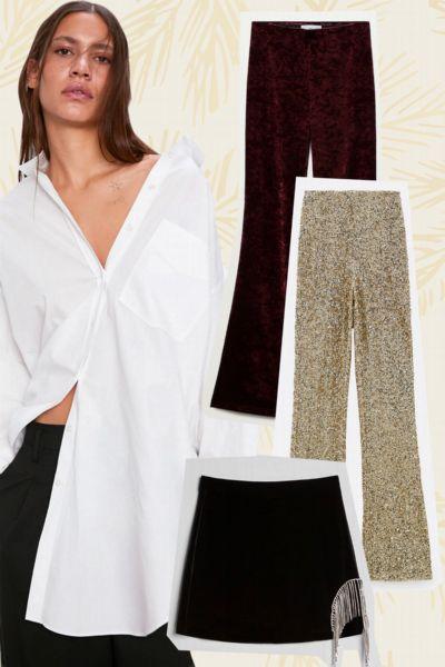 11 festliche Hosen und Röcke von Zara, Mango, H&M & Co., die perfekt zu den weißen Hemden in deinem Kleiderschrank passen werden