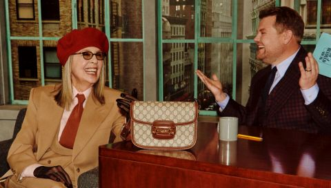 Gucci lädt zur Fake-Talkshow mit Diane Keaton, James Cordon und Harry Styles