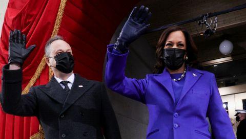 Kamala Harris: Diesen lila Mantel trägt die Vizepräsidentin als kraftvolles Statement