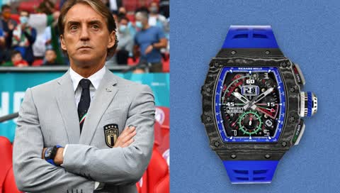 Roberto Mancini: Italiens Trainer begeistert mit Richard Mille RM 11-04