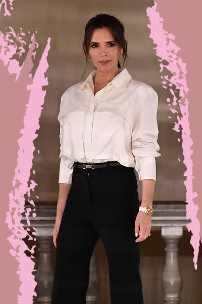 Victoria Beckham: Die Designerin schwört immer wieder auf diesen Hosen-Style für den Herbst - shoppe ihn ab 20 Euro nach