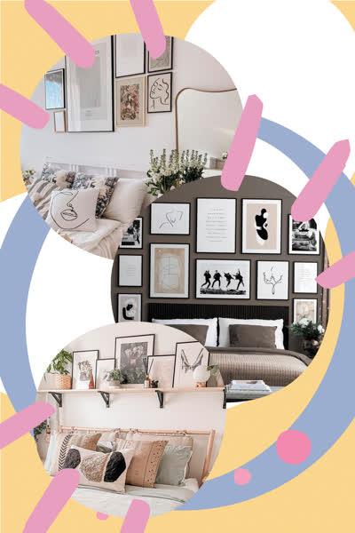 Bilderwand im Schlafzimmer gestalten: Die coolsten Fotowand-Ideen - und wo du hübsche Wandbilder shoppen kannst